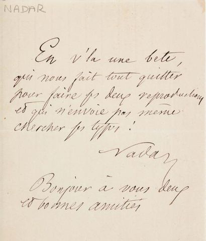 NADAR, Félix Tournachon, dit (1820-1910)