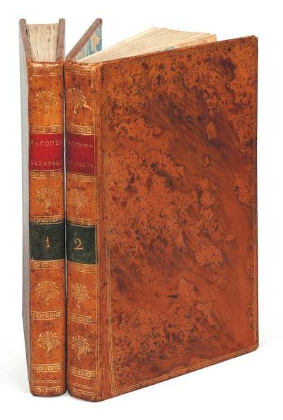 DIDEROT (D.) Jacques le Fataliste et son maître. Paris, Buisson, [1796], 2 vol. in-8°,...