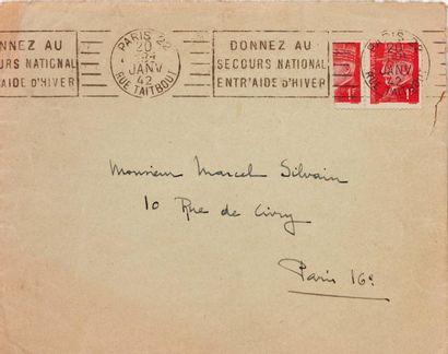 PHILATÉLIE : Pétain, 1942. Deux enveloppes...