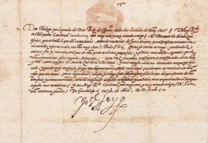 PHILIPPE II d'Espagne (1527-1598)