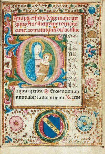 [...]. Livre d'heures à l'usage de Paris. Manuscrit sur vélin. XVe siècle, in-8°...