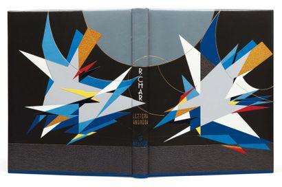 CHAR (R .) Lettera amorosa. Paris, E. Engelberts, 1963, in-4°, maroquin noir et box...