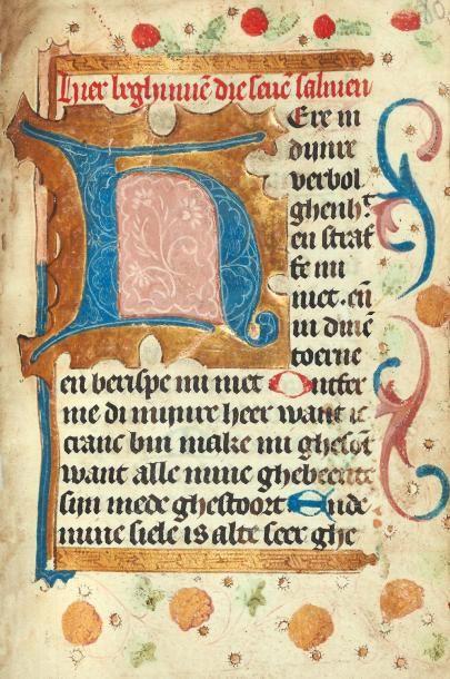 [...]. Livre d'heures en hollandais. Manuscrit...