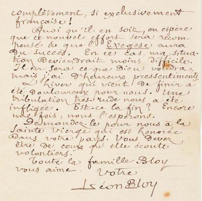 BLOY Léon (1846-1917)