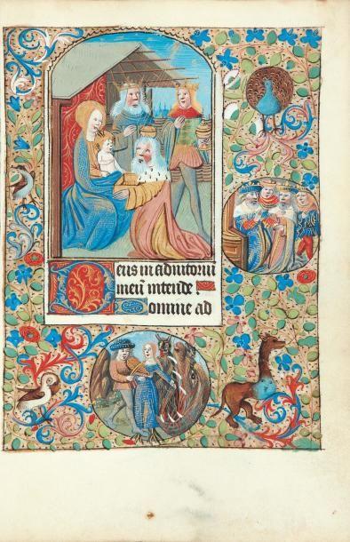 [...]. Livre d'heures à l'usage de Rouen. Manuscrit sur vélin. Vers 1470, in-8°...
