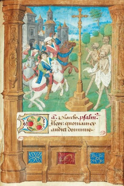 [...]. Livre d'heures à l'usage de Rouen. Manuscrit sur vélin. Vers 1490-1500, in-12...