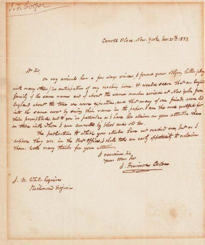 COOPER James Fenimore (1789-1851)