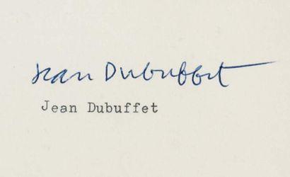 DUBUFFET Jean (1901-1985)
