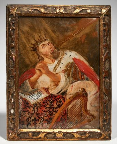 Le roi David Fixé sous verre; accidents et...