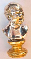 Sceau En bronze doré et argenté représentant...