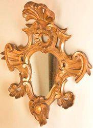 Paire de miroirs En bois doré et sculpté,...