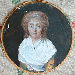 Madame Elizabeth au temple Miniature, gouache...