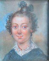 Portrait de femme coiffée en chignon Miniature,...