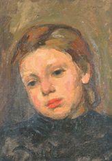 Charles HENTZEL Portrait de jeune femme Huile sur toile dans un cadre en bois, signé...