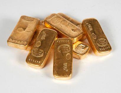 Un lingot d'or Titre or: 996,9 Poids or fin:...