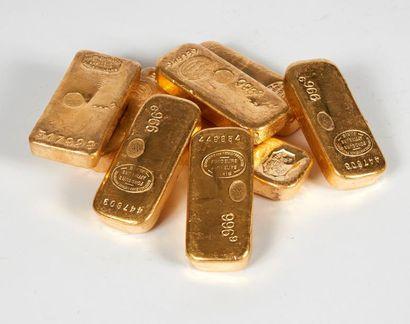 Un lingot d'or Titre or: 996,2 Poids or fin:...