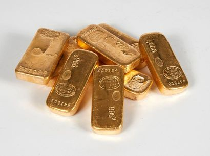Un lingot d'or Titre or: 996,4 Poids or fin:...