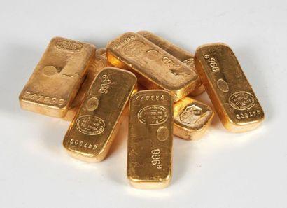 Un lingot d'or.   TItre or : 995,0.  ...