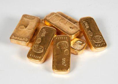 Un lingot d'or Titre or: 995,7 Poids or fin:...
