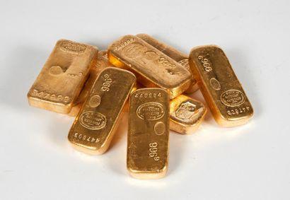 Un lingot d'or Titre or: 995,5 Poids or fin:...