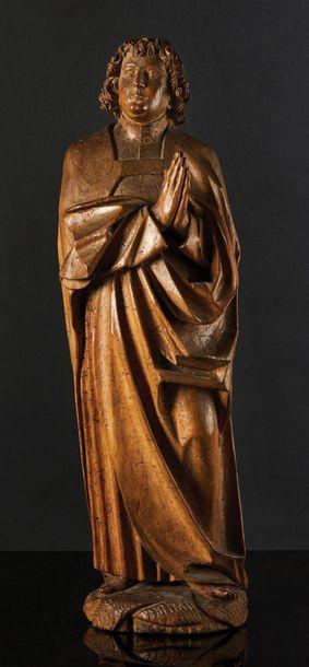 Saint Jean de Calvaire en tilleul sculpté...