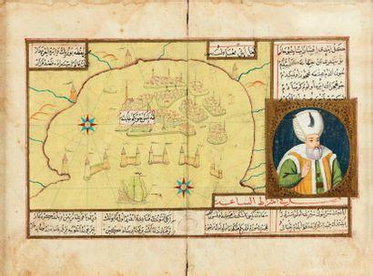 Carte de Venise et portrait de Soliman le...