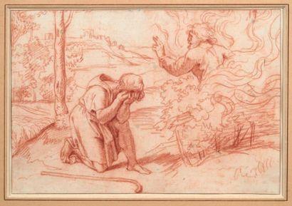 MICHEL II CORNEILLE DIT «LE JEUNE» (PARIS 1642 - 1708) Moïse et le buisson ardent,...