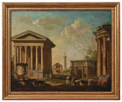 ÉCOLE ROMAINE DE LA MOITIÉ DU XVIIIE SIÈCLE, ENTOURAGE DE GIOVANNI PAOLO PANINI