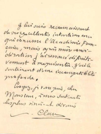 PAUL CLAUDEL (1868-1955).