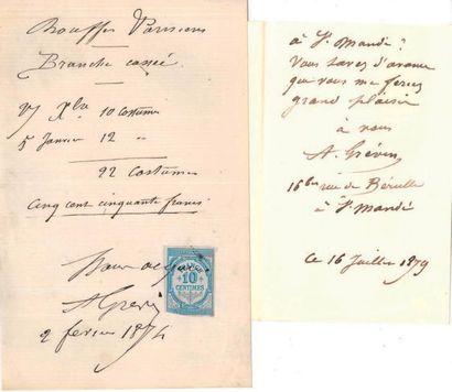 Alfred GREVIN (1827-1892) dessinateur, fondateur du musee de cire.
