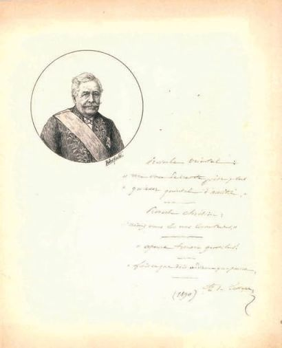 Ferdinand de LESSEPS (1805-1894).