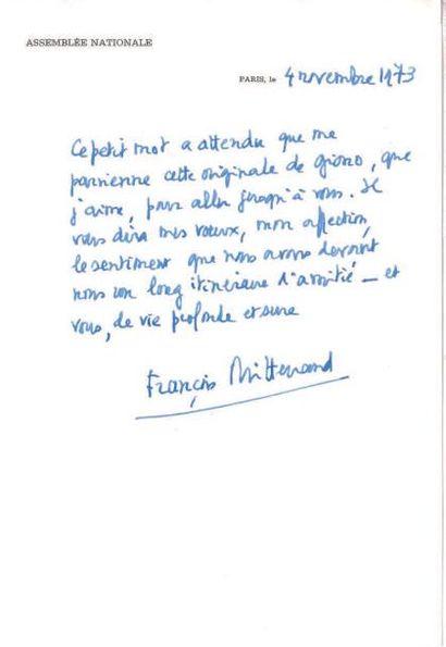 Francois MITTERRAND (1916-1996).