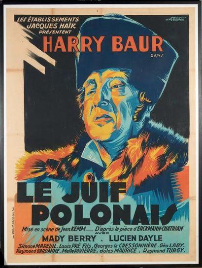 «Harry Baur dans le Juif polonais» Affiche...