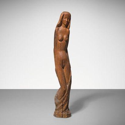 MORLEY TROMAN | 1918-2000 | Angleterre Femme Bois sculpte, taille directe a l'herminette...