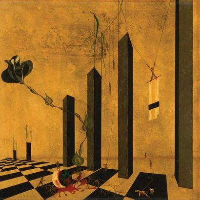 JACQUES NAM | Dans le goût de | France Panneau représentant une scène surréaliste...