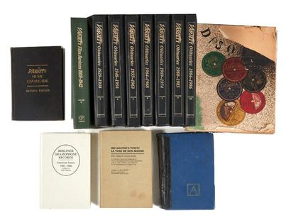 Paris-Almanach 1874-1913. Nombreux annuaires disque et cinéma, français et américaines....