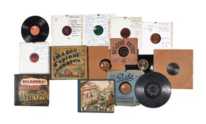 400/500 SAPHIRS PATHÉ 33 et 25 cm (dont étiquettes gravées) - Café-concert. 78 tours...