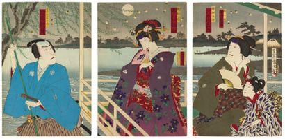 Divers artistes : Kunichika, Kunimasa (ou...