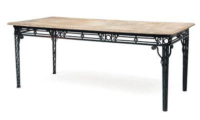 Table de fleuriste rectangulaire en fer forgé...