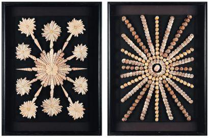 Deux tableaux présentant des compositions...