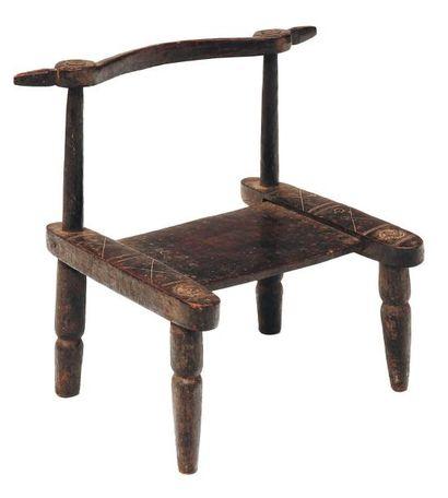 Chaise africaine H_59 cm L_49 cm P_48,5 ...