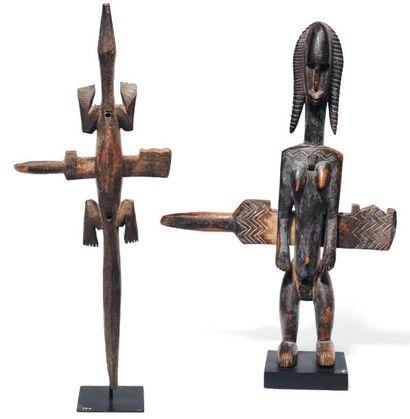Lot de deux serrures africaines