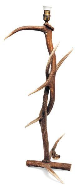 Lampe en bois de cerf. H_85 cm