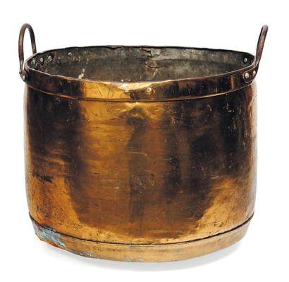 Grande marmite en cuivre. H_44 cm D_47 c...