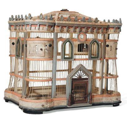 Cage à oiseaux Italie du Sud, vers 1900.