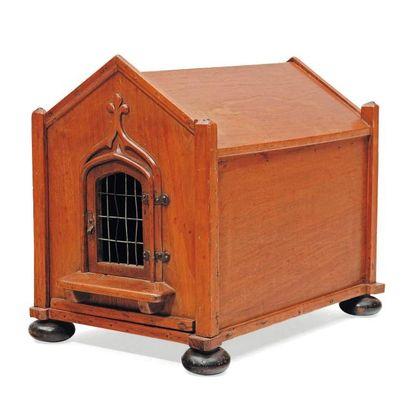 Boîte à chat en bois, en forme de maison...
