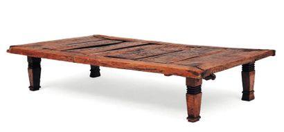 Table basse rustique rectangulaire en bois...