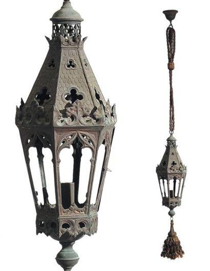Paire de lanternes de procession Italie,...
