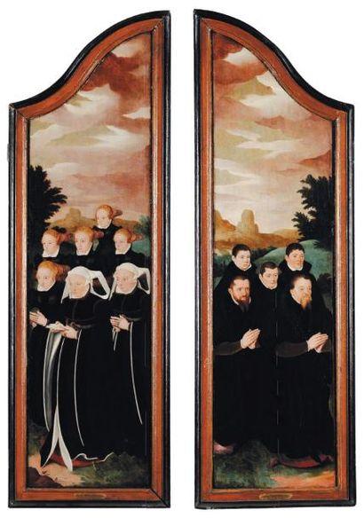 ECOLE COLONAISE VERS 1510, SUIVEUR DE BARTOLOMÉE BRUYN Le donateur et sa famille...