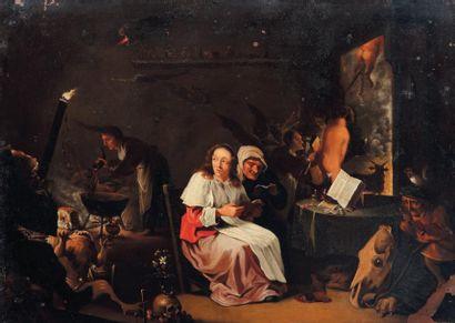 ECOLE HOLLANDAISE DU XVIIIe SIÈCLE, SUIVEUR DE CORNELIS SAFTLEVEN